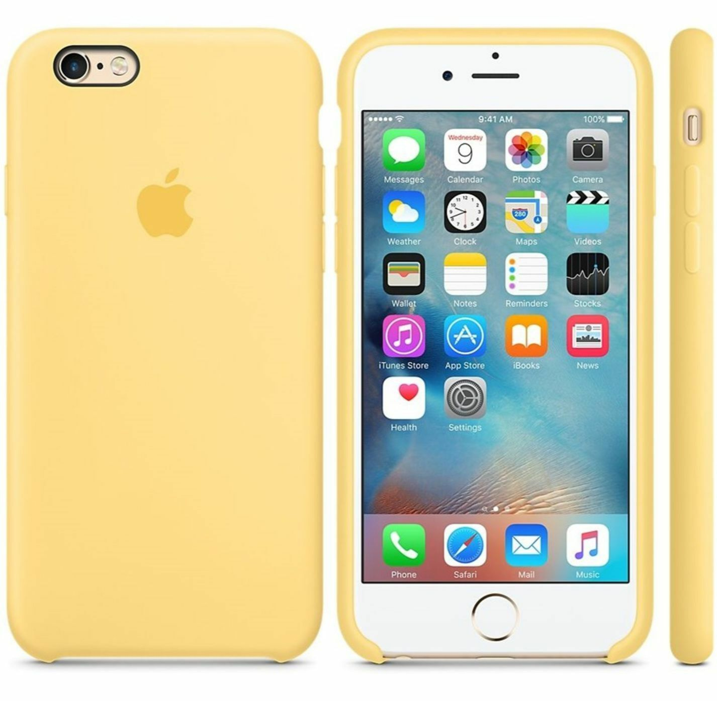 half off 4505a 49b52 Authentic Apple iPhone 6s Silicone Case Yellow