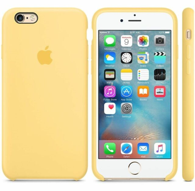 half off 0f90e 1139c Authentic Apple iPhone 6s Silicone Case Yellow