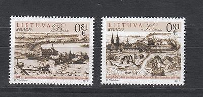 Cept Lietuva Litauen 2017 Mi 1250-1251 Set Mnh ** Europe Stamp Castle GläNzend Briefmarken