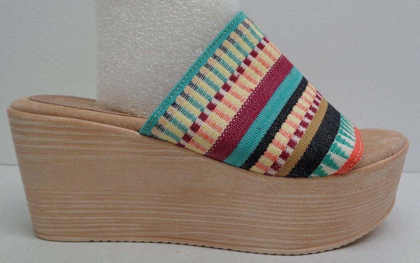 Sbicca tamaño 8 8 8 M Plataforma De Cuña De Tela De púrpurata Resbalón En Sandalias nuevo Zapatos para mujer  Garantía 100% de ajuste
