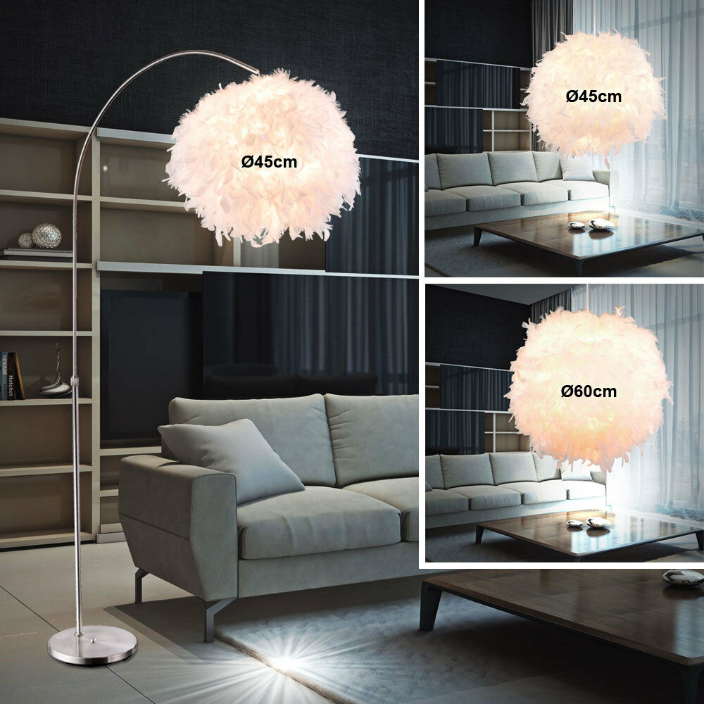 Design Feather Ball Pendant Luminaires Standing Lamps Ceiling Pendant Lamps E27