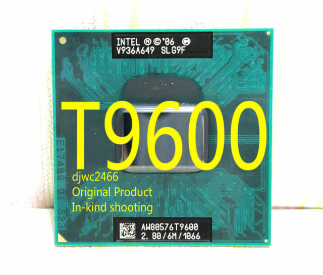 Intel Core 2 Duo T9600 (SLG9F) 2.80GHz / 6M / 1066 MHz / Notebook processor