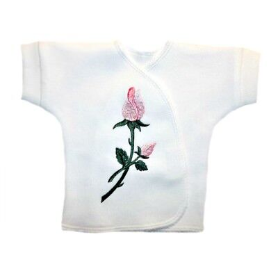 Pretty Pink Roses Baby Girl Kimono Wrap T-Shirt 4 Preemie and Newborn Sizes!