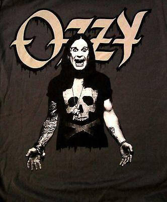 OZZY OSBOURNE cd lgo OZZY WEARING SKULL Official BABYDOLL SHIRT LRG new