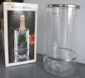 Wine-Cooler-Crystal-Clear-Plastic-No-Ice-No-Mess