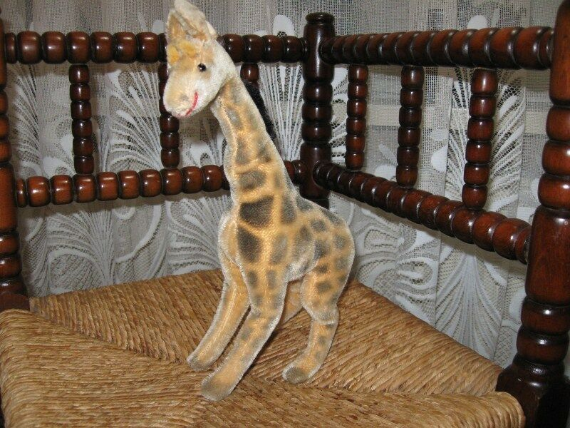 Old Hermann Germany Mohair Giraffe 30 CM 550 30 NO ID
