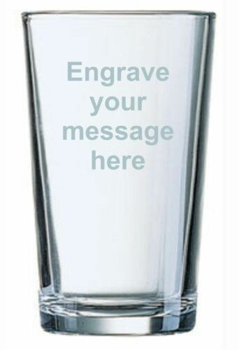 Father Of Bride Usher Gift Personalised Engraved Beer Lager Pint Glass Best Man
