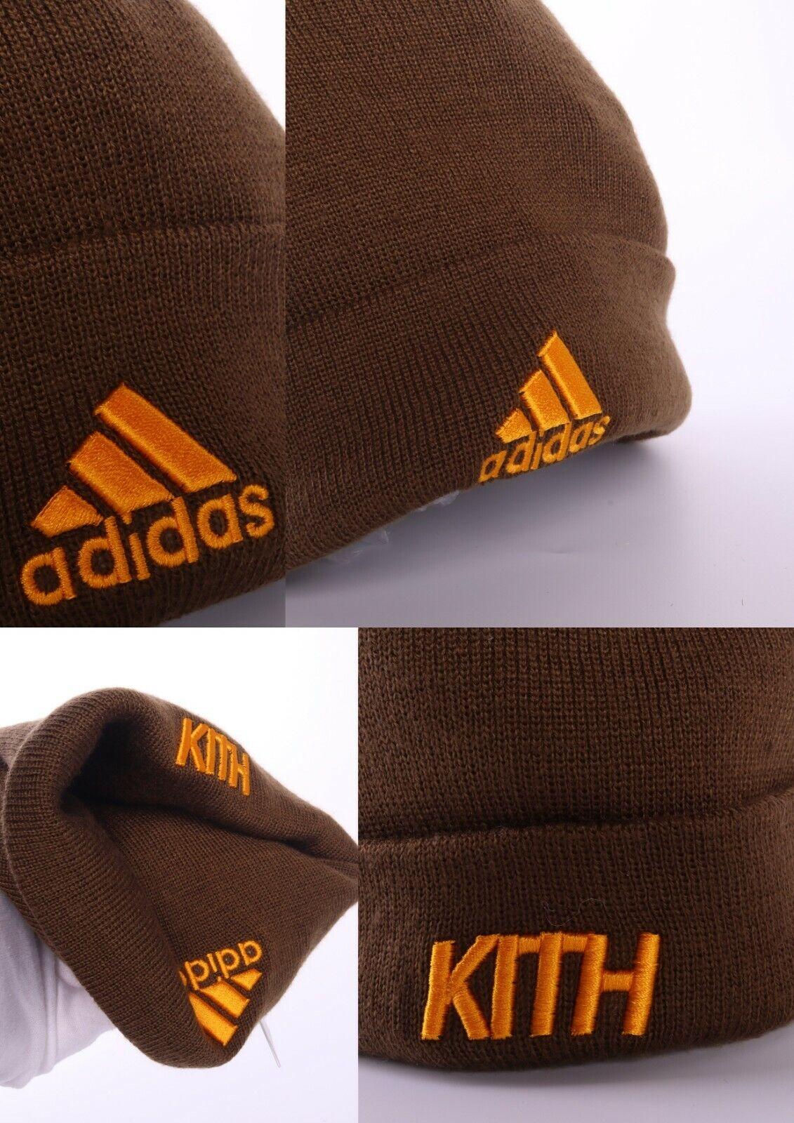 Adidas x Kith Dunkel Olive 100% Acryl K Wollie Beanie Mütze Einheitsgröße