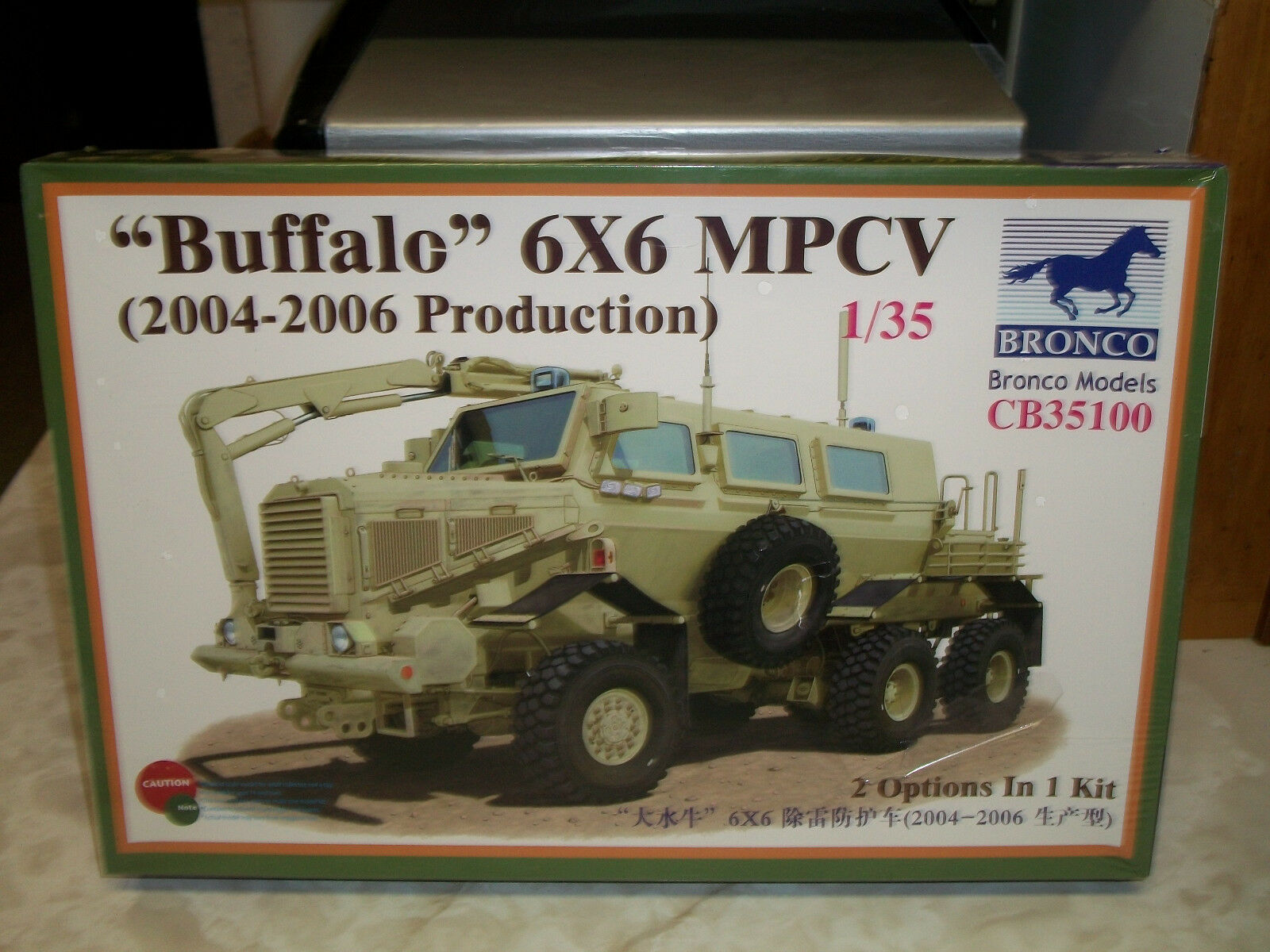 Bronco 1 35 Scale  Buffalo  6X6 MPCV (2004-2006 Production) - Factory Sealed