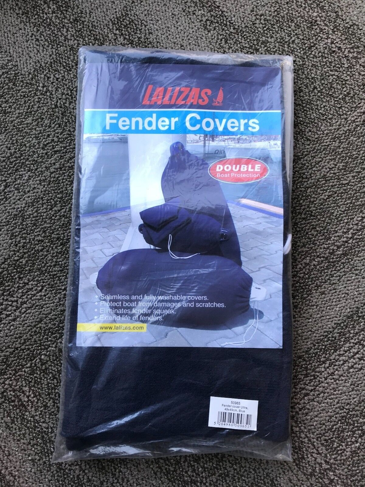 Two Lalizas Fender Covers (Fender Cover Ultra, 49x49cm,bluee)