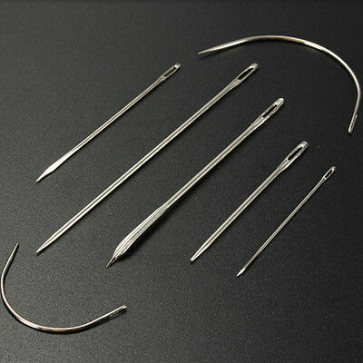 Useful 7X Hand Repair Sewing Needles Sewing Needles for Carpet Leather Tool