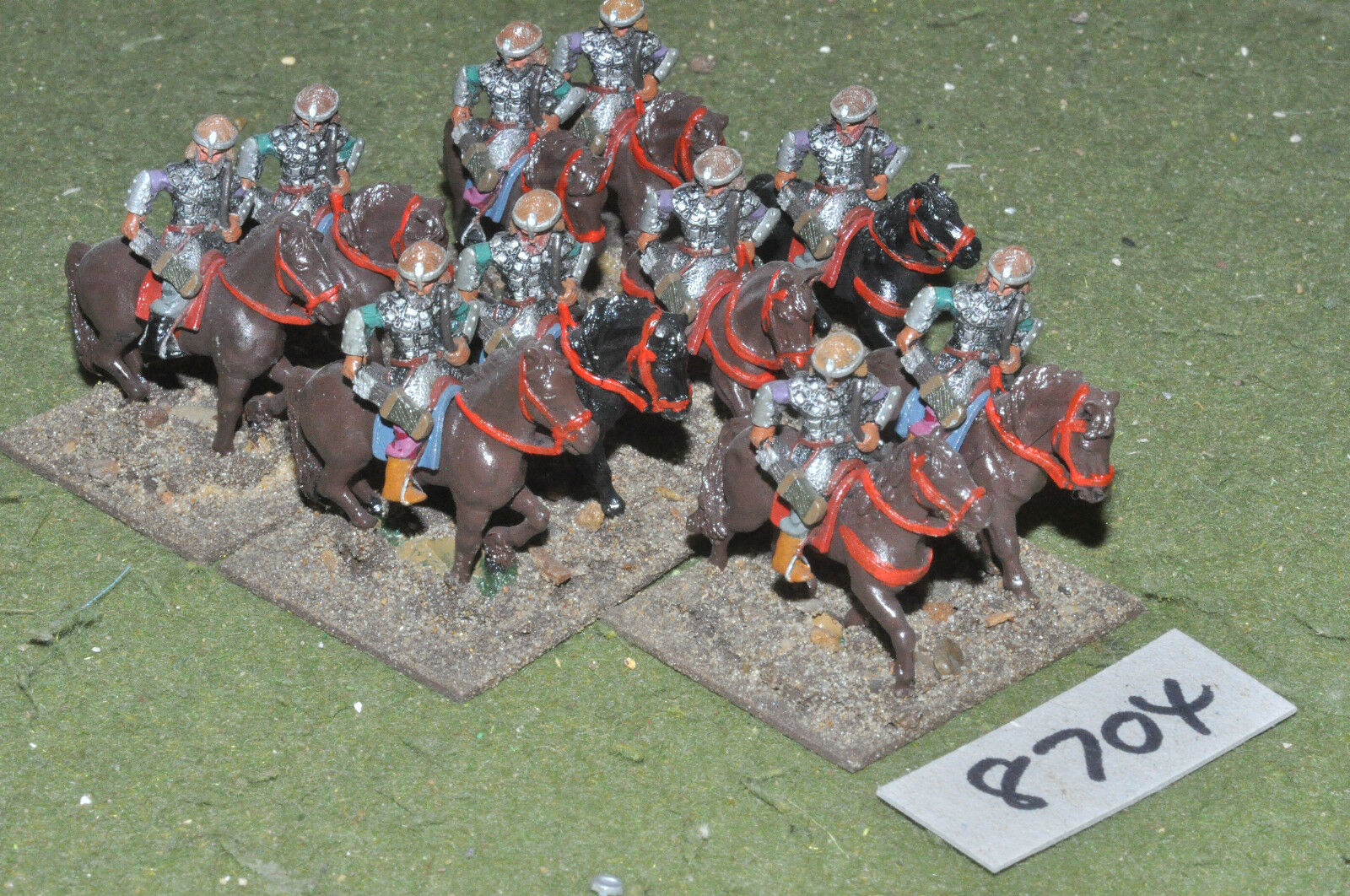 25mm renaissance   polish - cavalry 10 figures metal painted - cav (8704)
