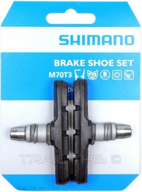 Shoe Set LX Deore Shimano M70T3 MTB//Road Bike Linear Pull V-Type Brake Pads
