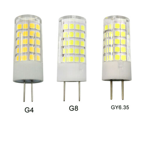 5W LED bulb 64-2835 AC//DC 12V White//Warm Ceramics Light GX6.35 G4//G8//GY6.35