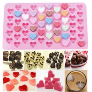 Silicone-Mini-55-Heart-Cake-Chocolate-Cookie-Baking-Mould-Mold-Jelly-Sweets-Tray
