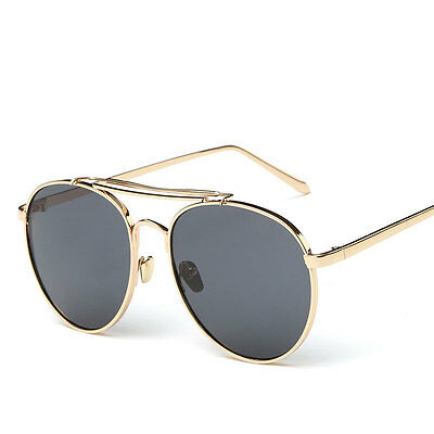 Mens Women Retro Aviator Mirrored Metal Frame Sunglasses Outdoor Glasses Eyewear