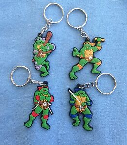 Personalised Ninja Turtles childrens kids keyring bag tag