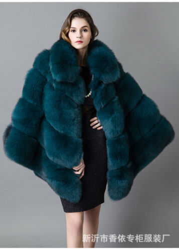 Jakke Vinter Cloak Mode Varm Fur Outwear Frakke Sjal Kvinder Faux 1Rwqw0
