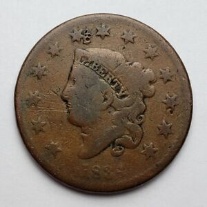 1834-Coronet-Matron-Head-Large-Cent