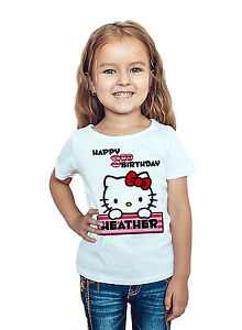 Image Is Loading Hello Kitty Birthday Shirt Custom Name And Age