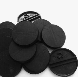* Neuf * 32 Mm Bases Rondes En Plastique Noir Pour Infinity Warhammer 40k Rpg Sigmar