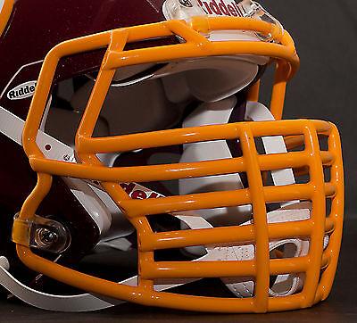 JUSTIN TUCK style Riddell Revolution SPEED Football Helmet Facemask - YELLOW