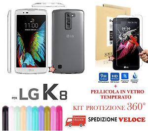 COVER-CUSTODIA-CASE-IN-GOMMA-NATURE-per-LG-K8-K-8-K350-amp-PELLICOLA-IN-VETRO