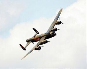 BRITISH-LANCASTER-BOMBER-WWII-AIRCRAFT-8x10-SILVER-HALIDE-PHOTO-PRINT