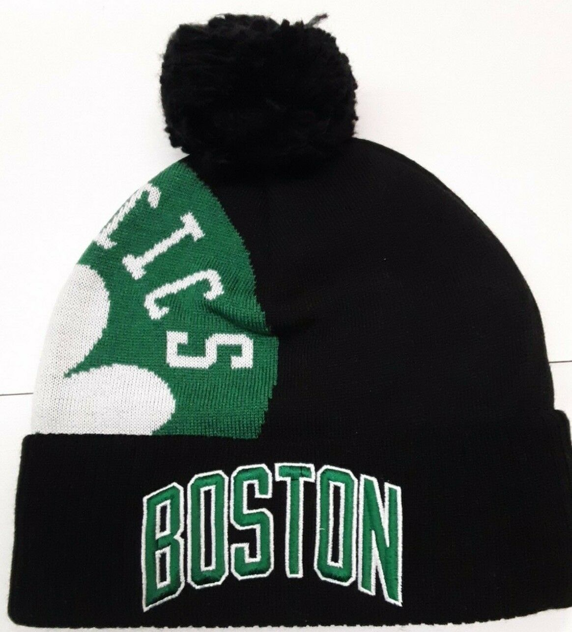 size 40 online retailer later Boston Celtics NBA Adidas Knit Hat cuffed pom for sale online