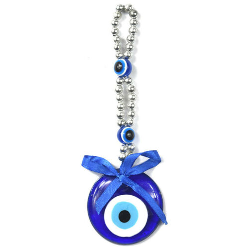 Turkish Blue Evil Eye Amulet Lucky Charm Car Wall Hanging Pendant Blessing Decor