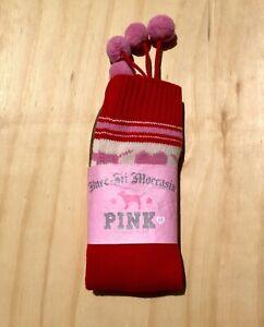 Victoria-Secret-Pink-Women-039-s-Rare-Knee-High-Mukluk-Boots-Size-Medium-M-New