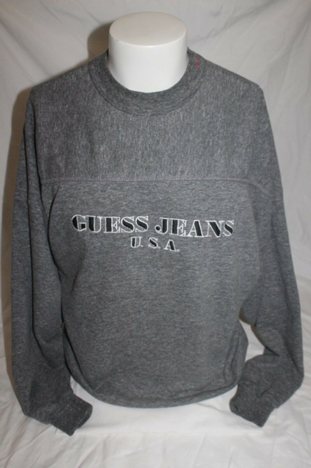 Vintage Guess Jeans USA Spell Out Georges Marciano Men's Dark grau Sweater Small
