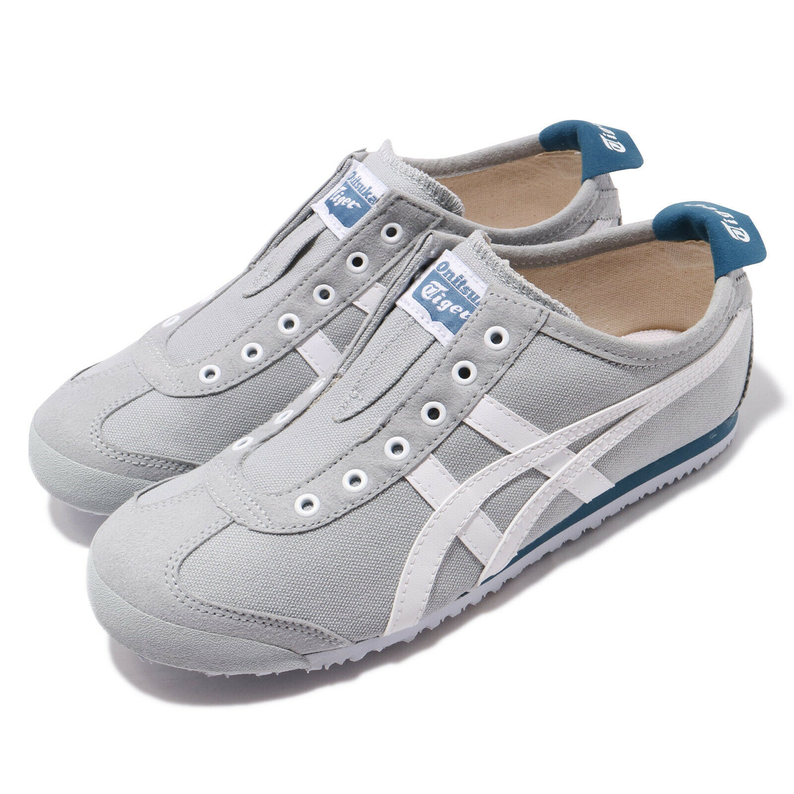 Asics Onitsuka Tiger  Mexico 66 Slip-on gris blancoo Hombre Mujer Unisex 1183A360-020  mejor opcion