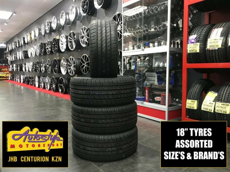 Tyres brand new 18 inch 225 40 18 from R850  Other sizes available. We beat any price. Open 7 days.