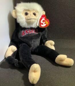 TY Beanie Babies Los Angles Angels Rally Monkey Baseball Glove Plush Toy