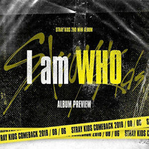 STRAY-KIDS-I-AM-WHO-2nd-Mini-Album-2Ver-SET-POSTER-Book-Card-etc-PreOrder-Item