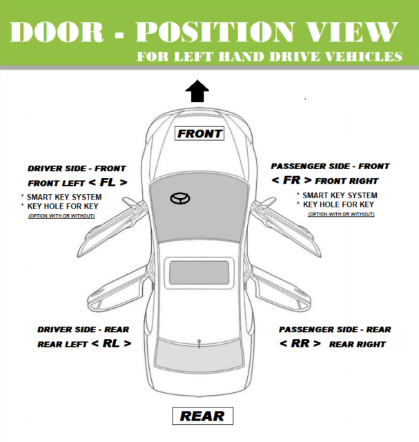 For Nissan Altima Door Handle OPAL BLUE BX4 B3933 Left Rear ...