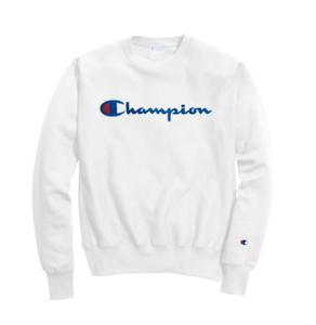 b0662734 Image is loading Champion-White-Reverse-Weave-Chain-Stitch-Script-Logo-
