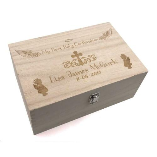 Confirmation Gift Girl/'s Personalised Large wooden Keepsake Box Gift HB-89