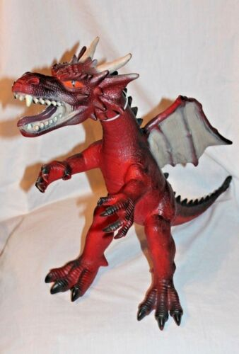 NEW WITH TAG  ANIMAL PLANET GIANT RED DRAGON   TOYSRUS EXCLUSIVE  17 TALL