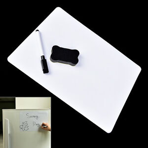 30x21cm-Magnetic-Fridge-WritingBoard-Removable-Whiteboard-Message-Board-Memo-nw
