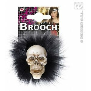 SKULL-BROOCHES-WITH-FEATHERS-for-Skeletal-Head-Skeleton-Halloween-Pirate-Accesso