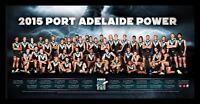 2015 Port Adelaide Football Club Team Afl Port Adelaide Power Team Poster Framed