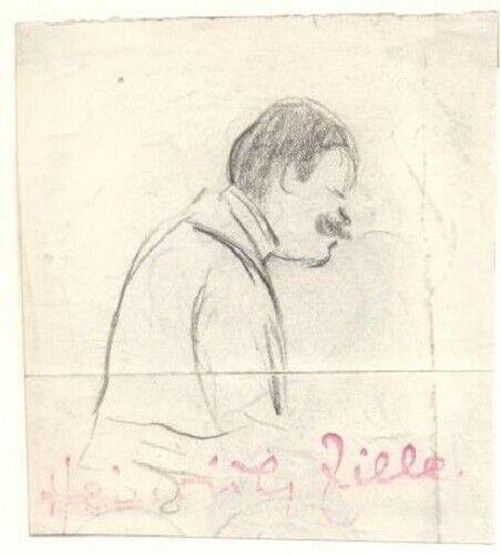 Fr die Firma Heinrich Zille:Portrait Seitenansicht ...