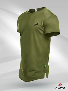 Pimd-Lifestyle-khaki-Tee-Fitness-Workout-Gym-Muskel-Tshirt-Bodybuilding-S-XL