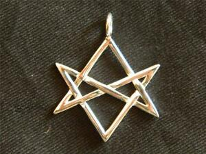 925 sterling silver unicursal hexagram pendant thelemamagick image is loading 925 sterling silver unicursal hexagram pendant thelema magick mozeypictures Images