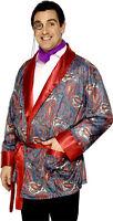 Mens Edwardian Smoking Jacket Hugh Hefner Stag Do Fancy Dress Costume Outfit