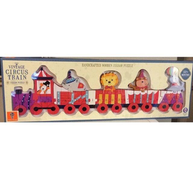 Vintage Wooden Circus Skittles Orange Tree Toys