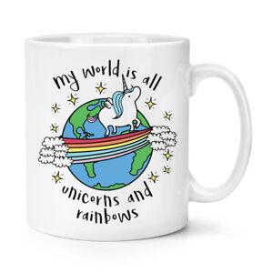 Monde-Est-Tout-Licornes-Et-Arcs-en-Ciel-284ml-Tasse-Drole
