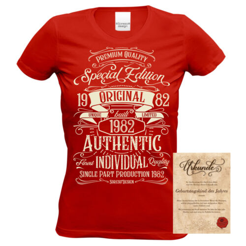 Geburtstag rot Geburtstagsgeschenk Geschenk T-Shirt Special Edition 1982 36